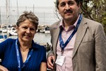 Hilda Cerdeira, Brazil, former ICTP scientist, and Enrique Canessa, Chile, head, SDU