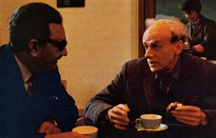 Abdus Salam with P.A.M. Dirac, Cambridge University, 1975