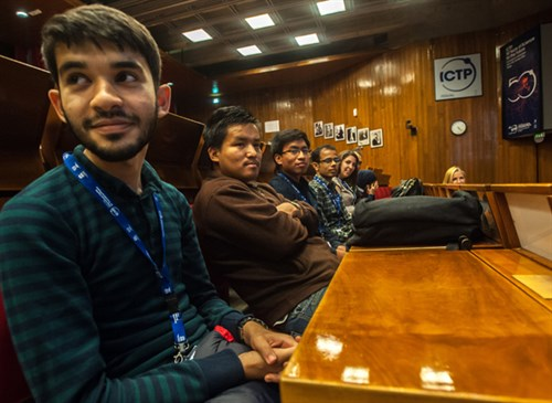 ICTP Postgraduate Diploma students at welcoming ceremony