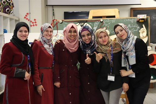 Students from Palestine and Morocco at ICTP's SciFabLab
