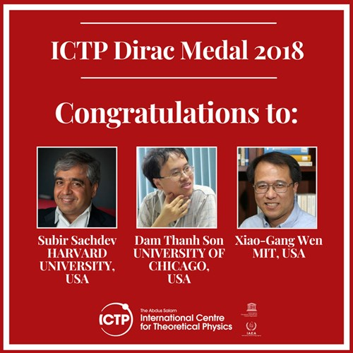 2018 Dirac Medal Winners Announced