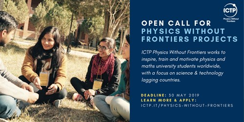 Physics Without Frontiers Open Call